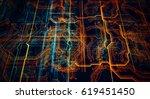 3d illustration. circuit board... | Shutterstock . vector #619451450
