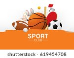 vector sport club with sports... | Shutterstock .eps vector #619454708