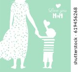 happy mother s day flyer ... | Shutterstock .eps vector #619456268