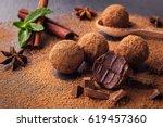 homemade fresh energy truffle...   Shutterstock . vector #619457360