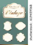 set of high quality vintage... | Shutterstock .eps vector #619459568