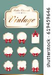 set of high quality vintage... | Shutterstock .eps vector #619459646
