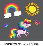 illustration of a very nice... | Shutterstock .eps vector #619471106