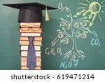 the teacher demonstrates the... | Shutterstock . vector #619471214