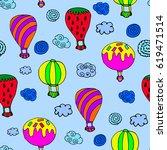 pattern of balloon. | Shutterstock .eps vector #619471514