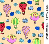 pattern of balloon. | Shutterstock .eps vector #619471538
