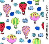 pattern of balloon. | Shutterstock .eps vector #619471544