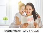 happy mother's day  child... | Shutterstock . vector #619473968