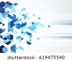 mosaic abstract background | Shutterstock .eps vector #619475540