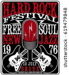 hard rock music poster | Shutterstock .eps vector #619479848