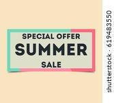 summer sale lettering design...   Shutterstock .eps vector #619483550