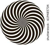 spiral circular pattern... | Shutterstock .eps vector #619485734