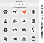 agriculture vector icons for...   Shutterstock .eps vector #619488146