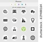 alternative energy vector icons ... | Shutterstock .eps vector #619488164