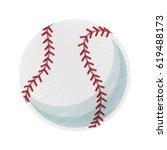baseball ball icon image  | Shutterstock .eps vector #619488173