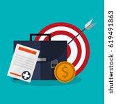 business briefcase design | Shutterstock .eps vector #619491863