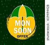 monsoon offer  monsoon vector... | Shutterstock .eps vector #619494428