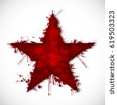 bloody star   ink | Shutterstock . vector #619503323