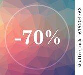 70 Percent Discount Icon. 70...