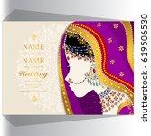 wedding invitation card...   Shutterstock .eps vector #619506530