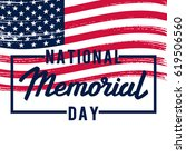 memorial day.  | Shutterstock .eps vector #619506560