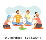 young cool people smoking...   Shutterstock .eps vector #619510049