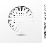 abstract dotted sphere.... | Shutterstock .eps vector #619510814