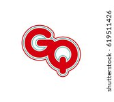 initial letter g and q. gq... | Shutterstock .eps vector #619511426