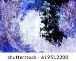 abstract hand made acrylic...   Shutterstock . vector #619512200