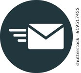 fast mail vector icon  email... | Shutterstock .eps vector #619517423