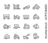 set line icons of agricultural... | Shutterstock .eps vector #619518683