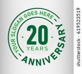 20 years anniversary logo... | Shutterstock .eps vector #619523519