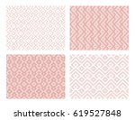 collection of four geometric... | Shutterstock .eps vector #619527848