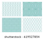 collection of four geometric... | Shutterstock .eps vector #619527854