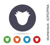 flower sign icon. rose symbol.... | Shutterstock .eps vector #619529966