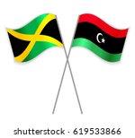jamaican and libyan crossed...   Shutterstock .eps vector #619533866