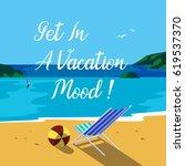 summer nature landscape. blue... | Shutterstock .eps vector #619537370