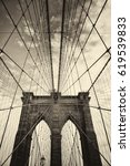 Small photo of Brooklyn bridge in New York is one of the oldest bridges of either type in the United States. Completed in 1883