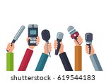 broadcasting  media tv ... | Shutterstock .eps vector #619544183