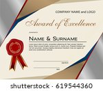 award of excellence with wax...   Shutterstock .eps vector #619544360