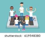 social network concept. a... | Shutterstock .eps vector #619548380