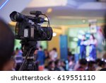 vdo record people on stage  | Shutterstock . vector #619551110