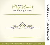 new calligraphy page divider...   Shutterstock .eps vector #619551596