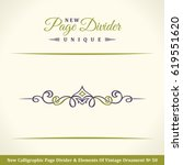 new calligraphy page divider... | Shutterstock .eps vector #619551620