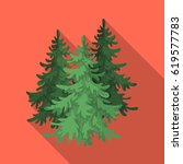 canadian spruce. single icon in ... | Shutterstock .eps vector #619577783