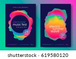 electronic music fest and... | Shutterstock .eps vector #619580120