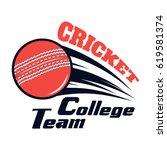 vector logo for cricket game... | Shutterstock .eps vector #619581374