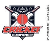 vector logo for cricket game... | Shutterstock .eps vector #619581383