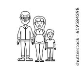 figure couple with their son...   Shutterstock .eps vector #619584398