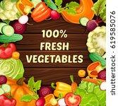 cartoon organic natural food...   Shutterstock .eps vector #619585076